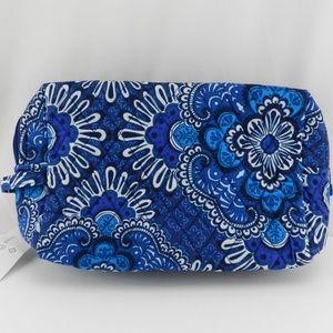 New Vera Bradley Large Cosmetic Bag Blue Tapestry